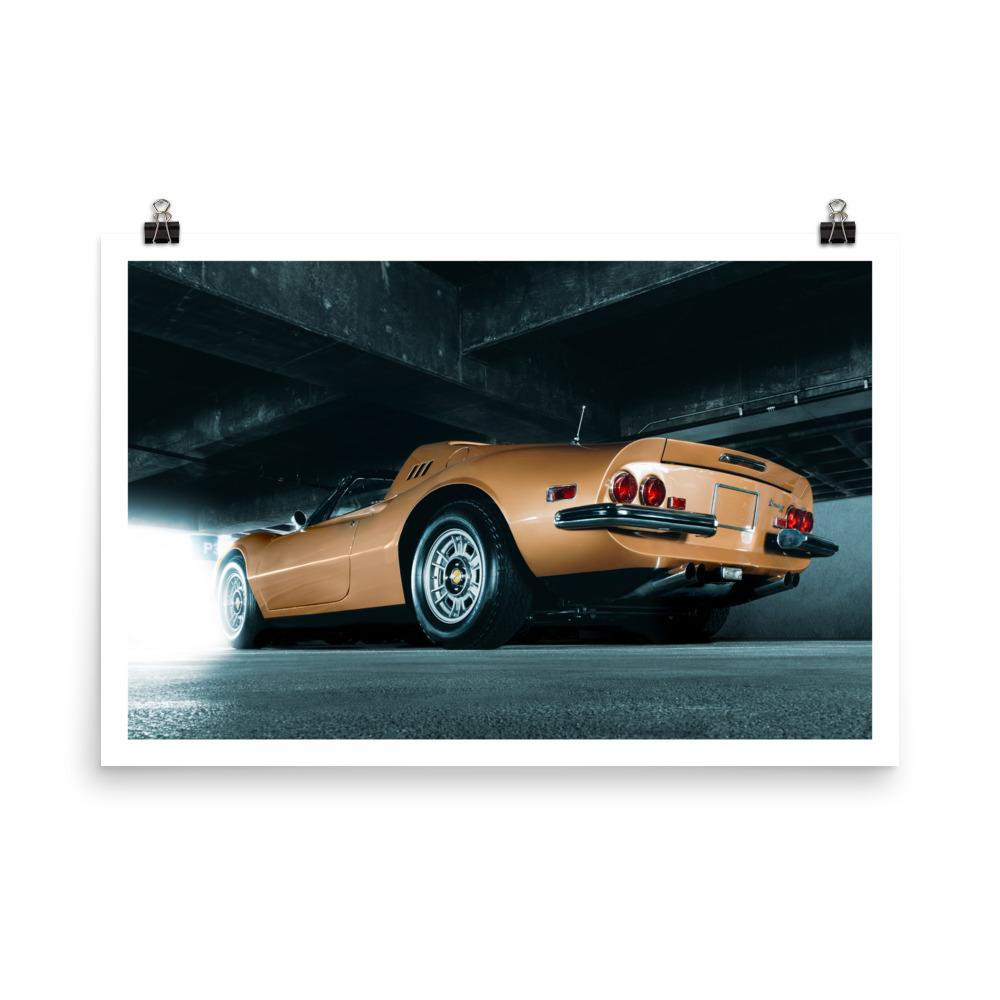Ferrari Dino, Car Poster, automotive prints, fine art