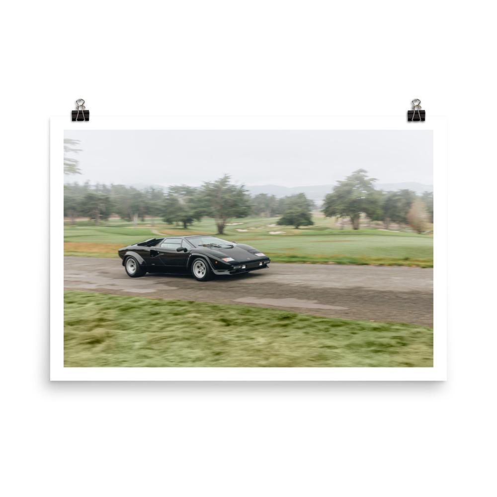 Lamborghini Countach print, car posters, automotive art