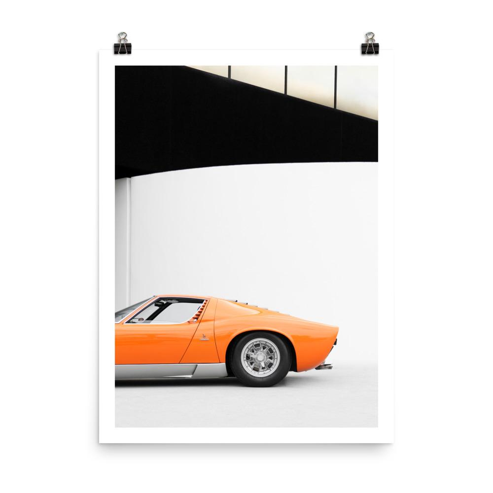 Lamborghini miura, car posters, automotive prints, art