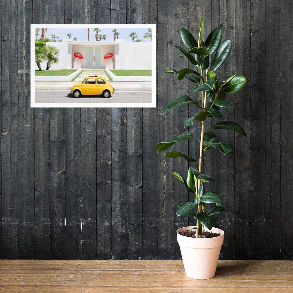Vintage Fiat 500 in Palm Springs Print