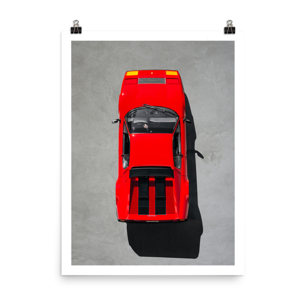 Ferrari 512 BB, automotive print
