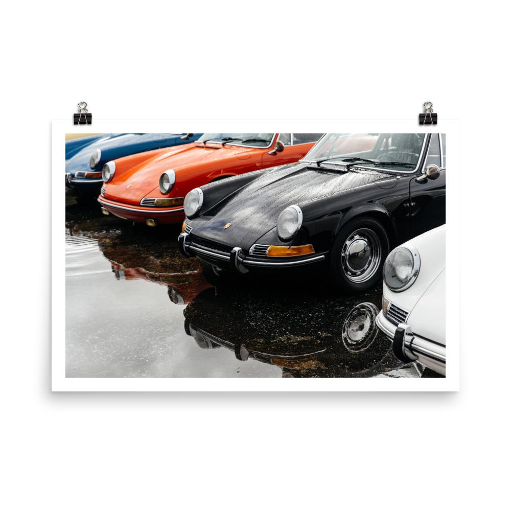 porsche 911 print, car prints, automotive art, vintage porsche