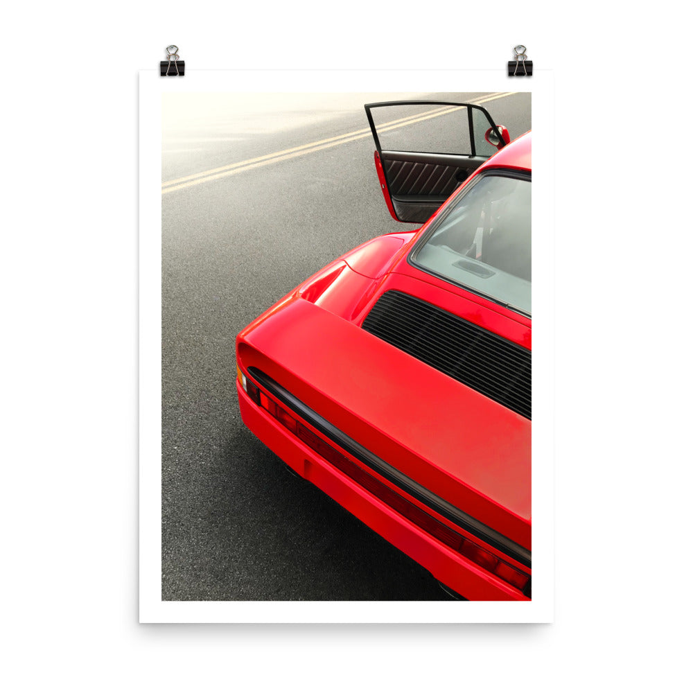 porsche 959 print, car prints, automotive art, vintage porsche