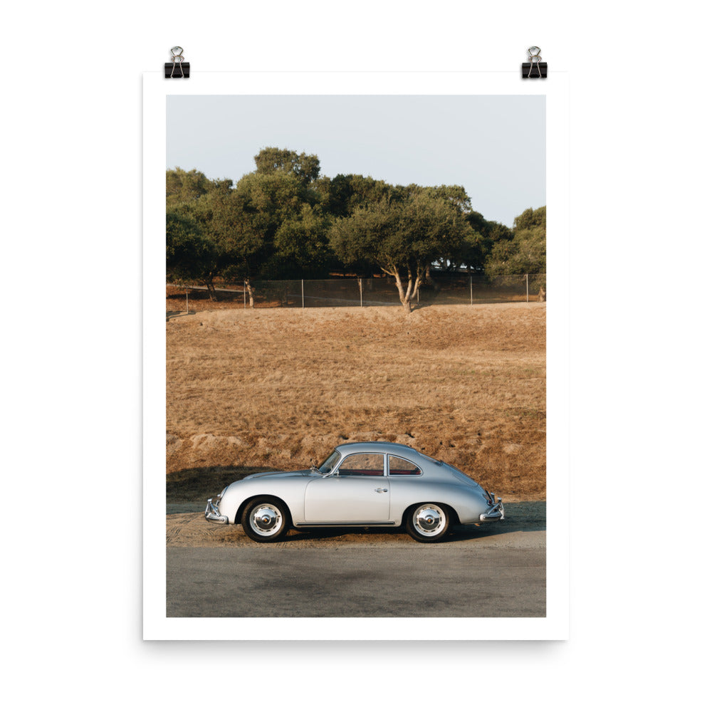 Porsche 356 print, classic Porsche art, automotive prints