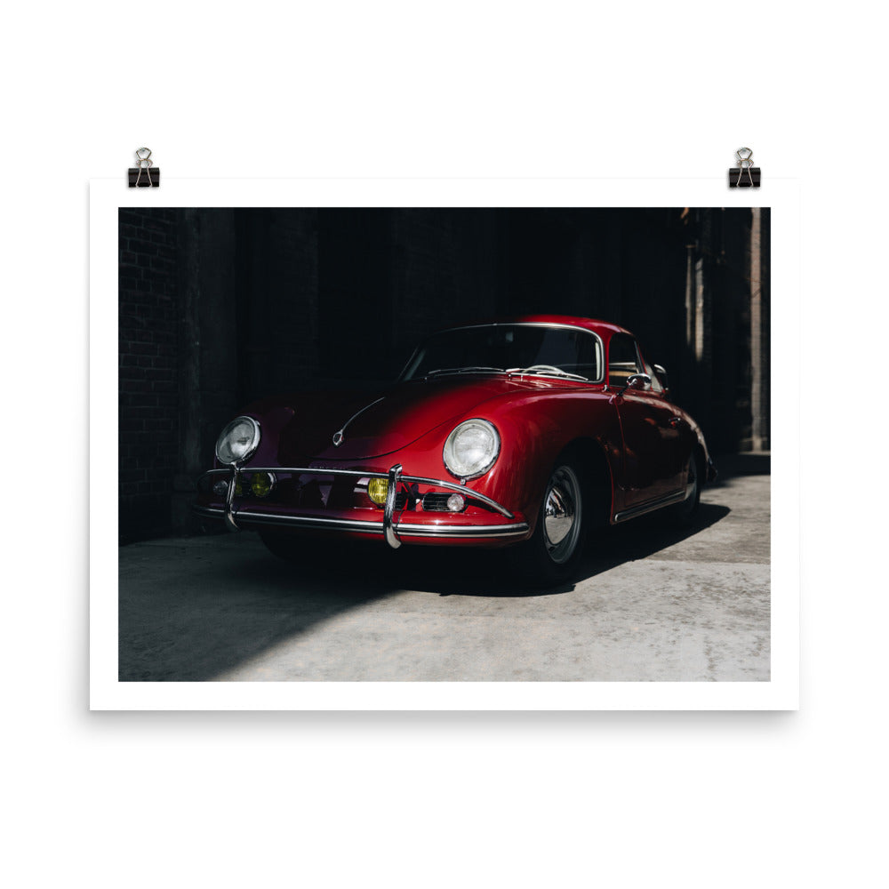 vintage porsche 356, huseyin erturk, car prints, automotive photography