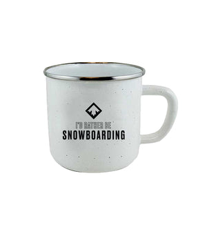 RATHER BE SNOWBOARDING MUG