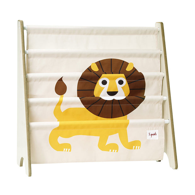 3 Sprouts Book Rack Lion Yellow - nini & loli