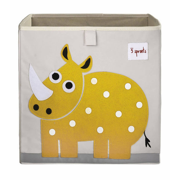 3 Sprouts Storage Box Rhino Yellow - nini & loli