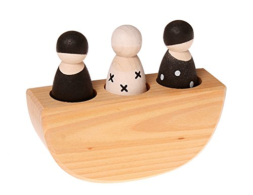 Grimm's Authentic 3 in 1 Boat Toy Monochrome