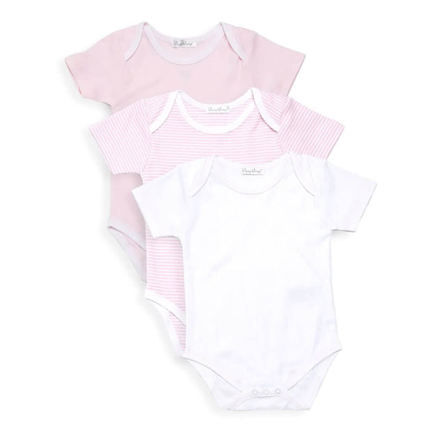 Pink | Kissy Kissy 3 Pack Short Sleeve Stripe Body Onesie - Pink