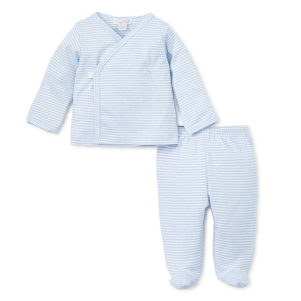 Blue | Kissy Kissy Footed Pants Set Stripes - Blue