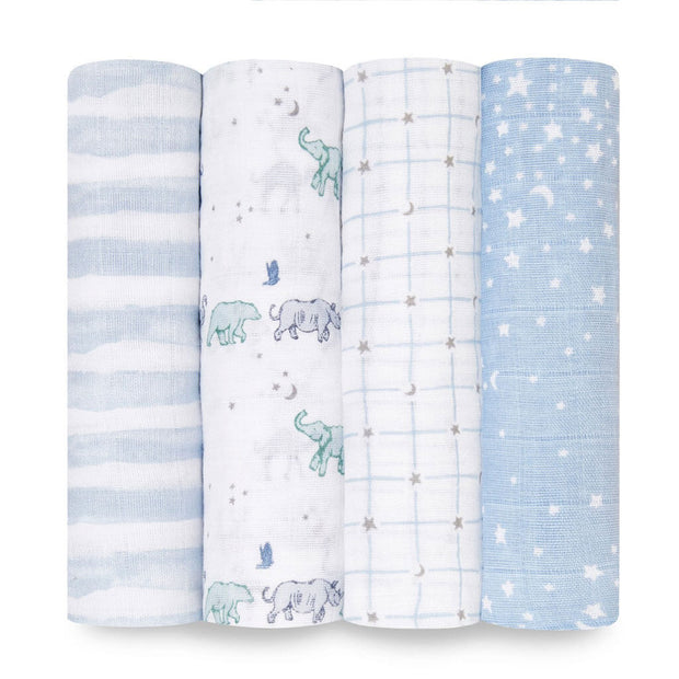 Aden + Anais  Classic Swaddle 4 Pack Rising Star