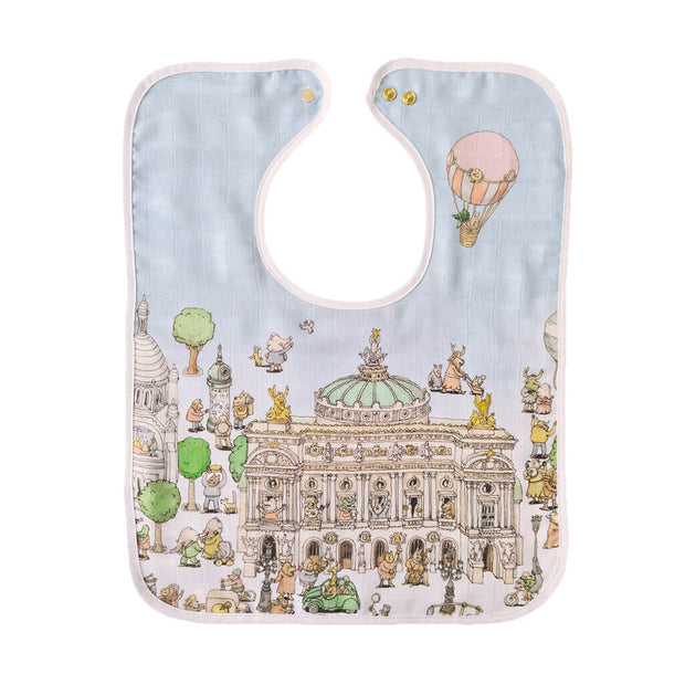 Atelier Choux Paris Organic Cotton Large Bib Paris