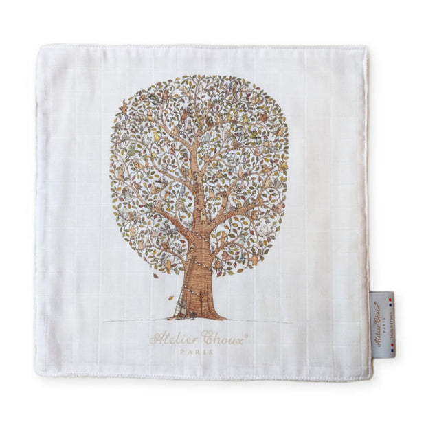 Atelier Choux Paris Mini Towel Friends and Family Tree | NINI and LOLI