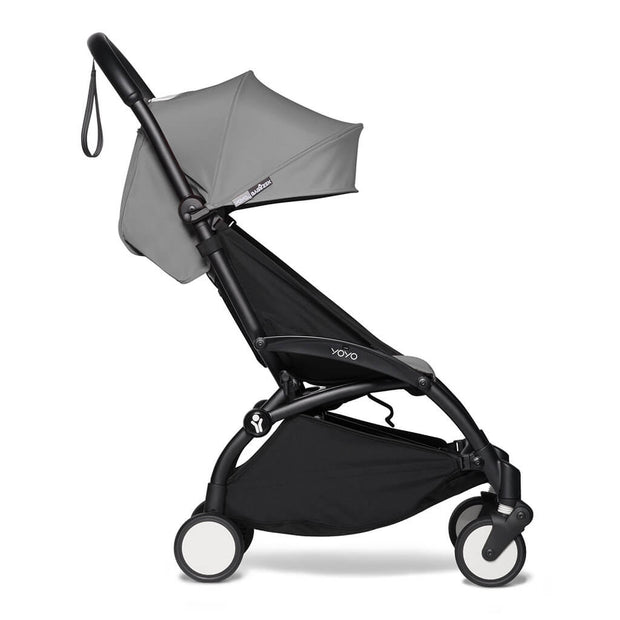 Grey | Babyzen Yoyo2 6+ Complete Stroller Black Frame Grey | nini and loli