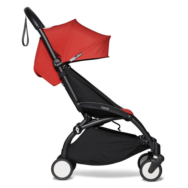 Red | Babyzen Yoyo2 6+ Complete Stroller Black Frame Red | nini and loli