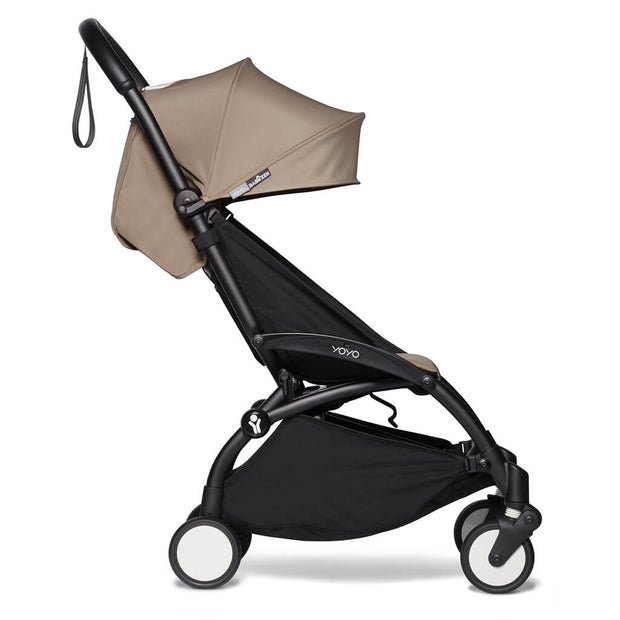 Taupe | Babyzen Yoyo2 6+ Complete Stroller Black Frame Taupe | nini and loli