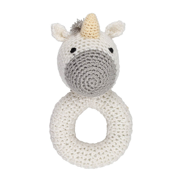 Crochet Ring Rattle Unicorn