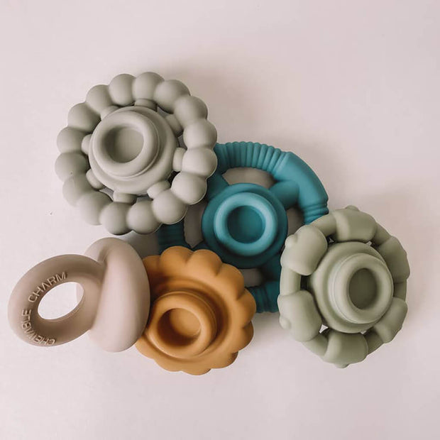 Chewable Charm Teether Stacker River