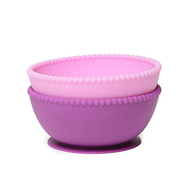 Chewbeads Silicone Suction Bowls Set Pink/Purple - nini & loli