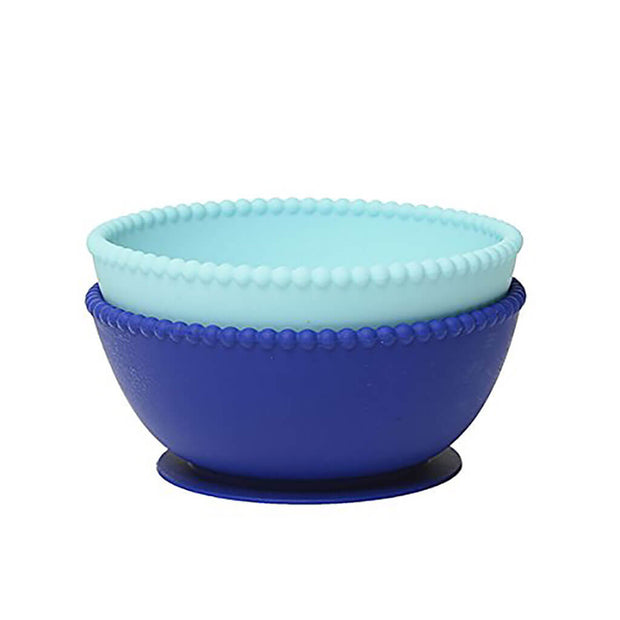 Chewbeads Silicone Suction Bowls Set Turquoise/Cobalt