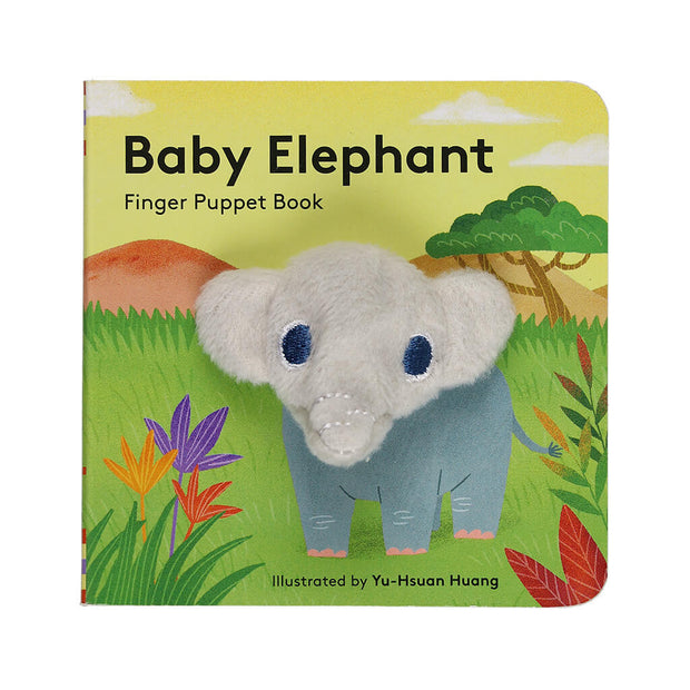 Chronicle Books Finger Puppet Book Baby Elephant - nini & loli