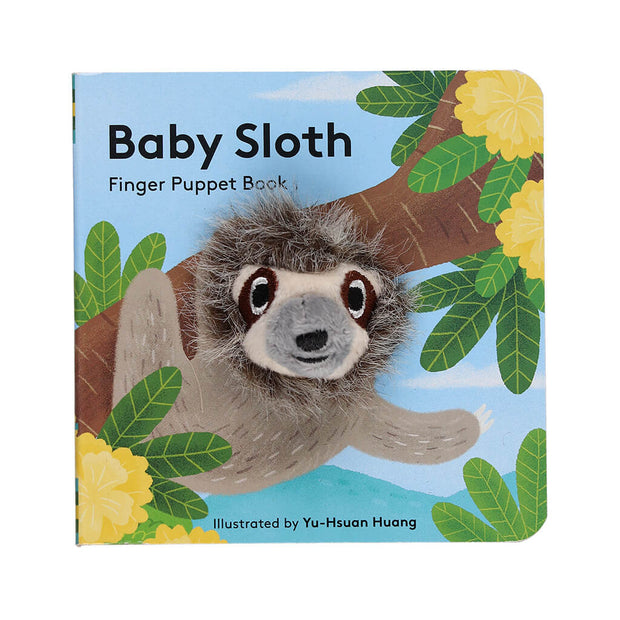Chronicle Books Finger Puppet Book Baby Sloth - nini & loli
