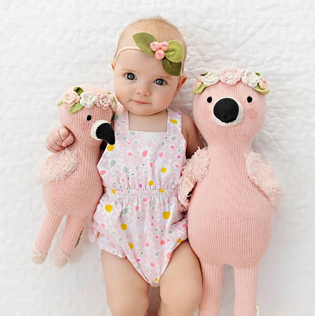 Cuddle + Kind Hand Knit Doll Penelope The Flamingo
