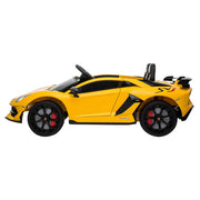Kids Electric Ride On Car Lamborghini Yellow