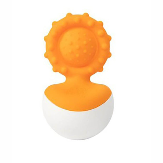 Fat Brain Toys Teething Dimple Wobbl Orange - nini & loli