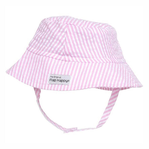 Pink | Flap Happy UPF 50+ Crusher Hat with Neck Strap - Pink