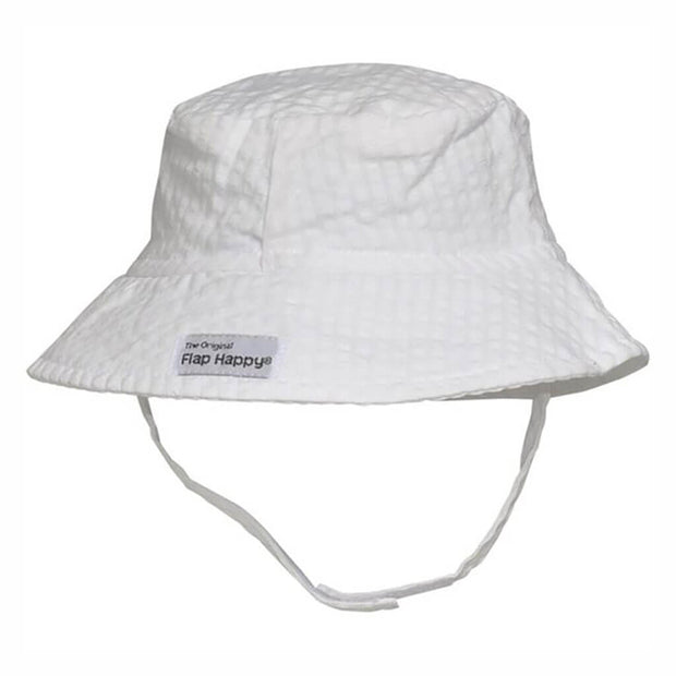 Vanilla | Flap Happy UPF 50+ Crusher Hat with Neck Strap - Vanilla
