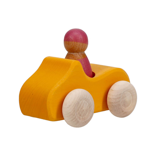 Grimm's Authentic Small Convertible Car Yellow - nini & loli