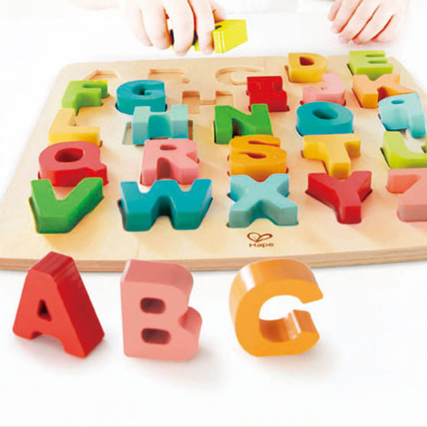 Hape Chunky Puzzle Alphabet Educational Toy