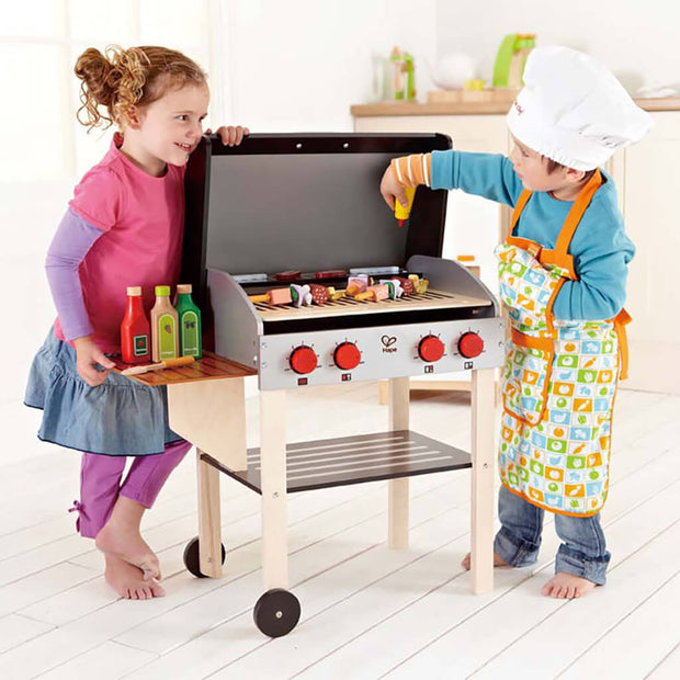 Hape Wooden Gourmet Grill with Food Toy