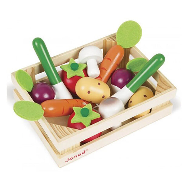 Janod 12 Vegetables Crate - nini & loli