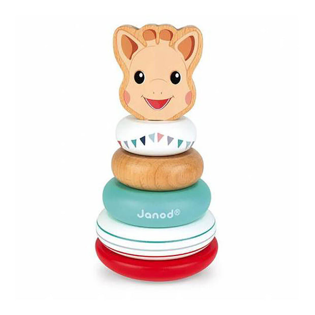 Janod Sophie La Giraffe Stackable Roly Poly Wood - nini & loli