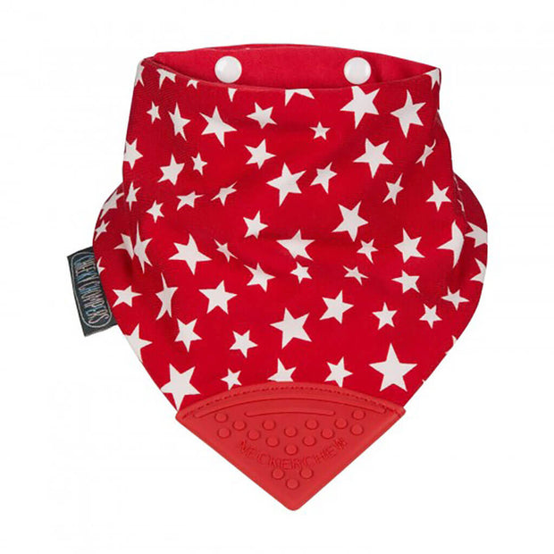 Kalencom Neckerchew Bib Red Stars - nini & loli