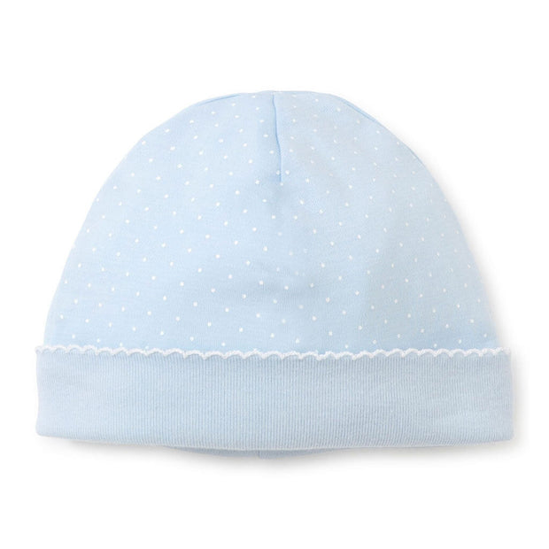 White/Blue | Kissy Kissy Print Dots Hat - White/Blue