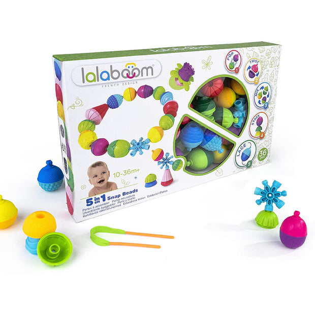 Lalaboom Educational Activity Beads 36 Pieces