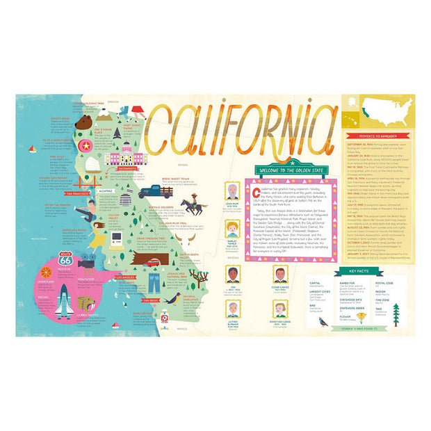 Little People, Big Dreams Book The 50 States: Explore the U.S.A. with 50 Fact-Filled Maps! - nini & loli