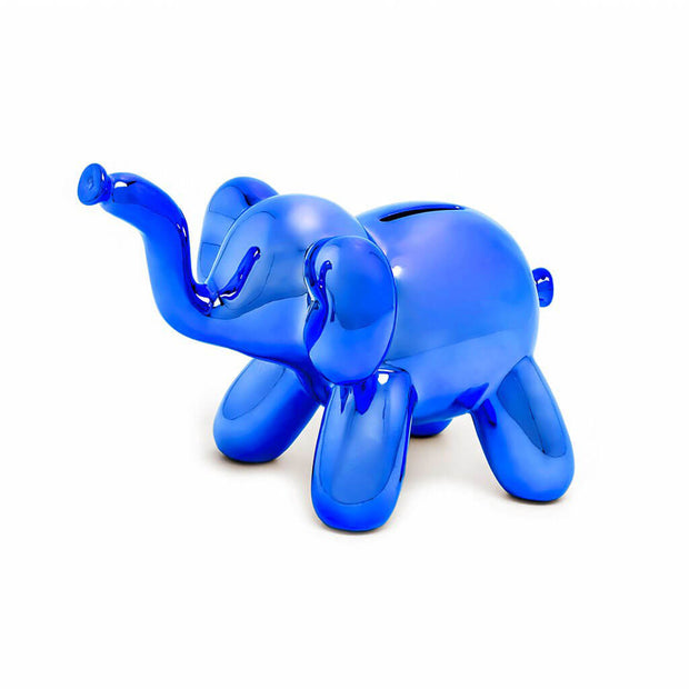 Made By Humans Money Bank Balloon Baby Elephant Blue