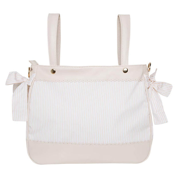 Leather Diaper Bag Polipele Beige - nini & loli