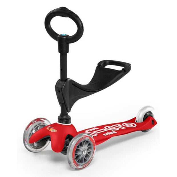 Micro Kickboard Scooter Mini 3in1 Deluxe Red