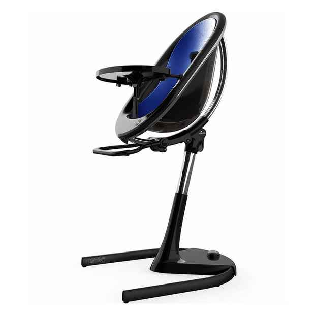 Royal Blue | Mima Moon 2G High Chair Black - Royal Blue