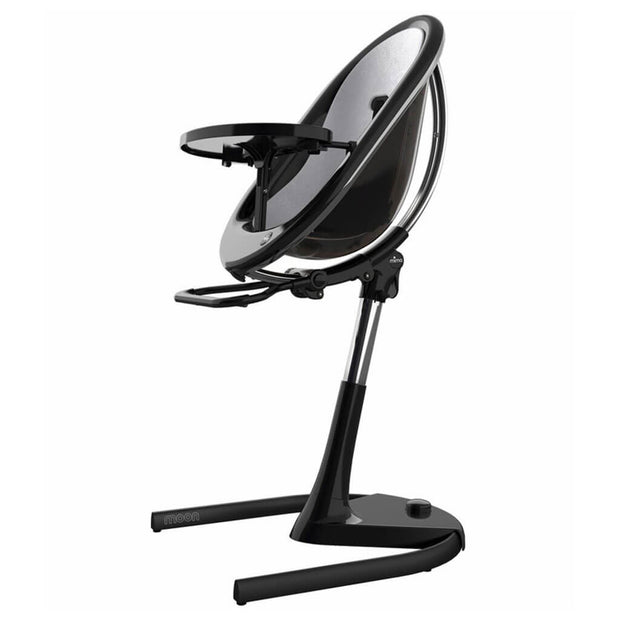 Silver | Mima Moon 2G High Chair Black - Silver