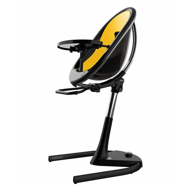 Yellow | Mima Moon 2G High Chair Black - Yellow