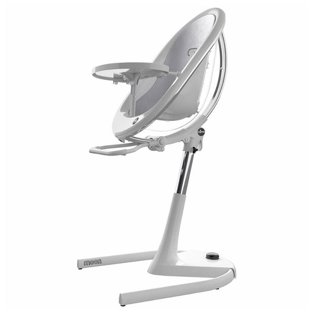Silver | Mima Moon 2G High Chair White - Silver