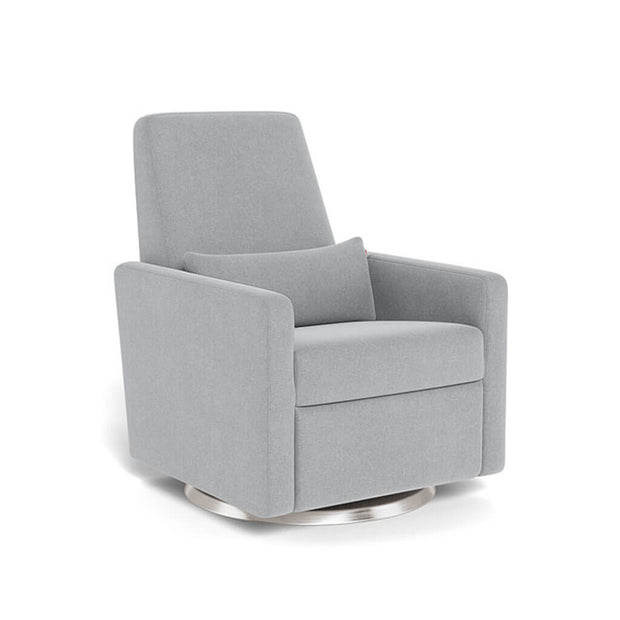 Monte Design Grano Glider Recliner Steel Swivel and Glide Base Nordic Grey