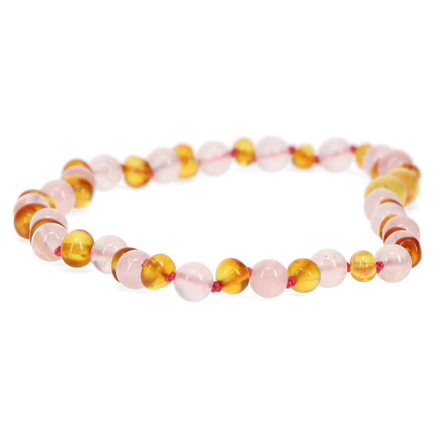 Nilo Baby Amber Necklace Honey/Quartz - nini & loli